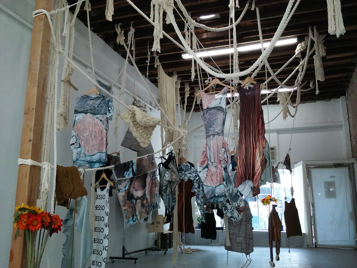 Photograph of NO SESSO pop-up shop installation